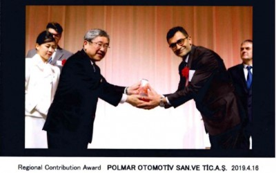 We recieved Regional Contribution Award from Toyota Boshoku Global